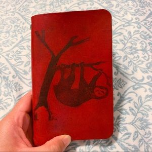 Other - Handmade Leather Notebook With Sloth